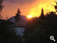 Sonnenuntergang am Schneeberghof