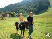 Besonders beliebt - das Ponyreiten am Schneeberghof
