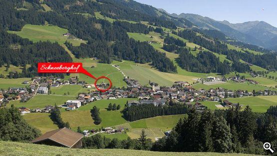lLage unseres Schneeberghofs in Westendorf